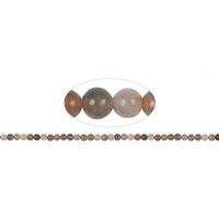 Fil de perles en Pierre de lune boule 6mm - Grade A