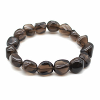 Bracelet pierres roulées Obsidienne larme apache