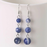 "Boucles d'oreilles Sodalite ""Grappa"""