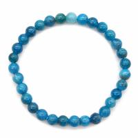 Bracelet apatite bleue boules 6mm