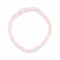 Bracelet quartz rose boules 4mm - Taille enfant