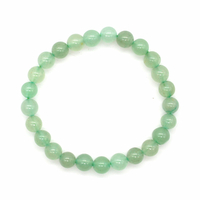 Bracelet aventurine verte boules 6mm - Taille enfant