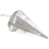 Pendule à Facettes en Cristal de roche