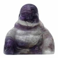 Bouddha Rieur assis 4 cm en Améthyste - Porte bonheur