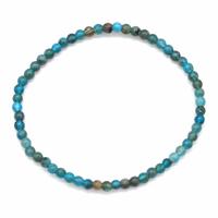 Bracelet apatite bleue boules 4mm