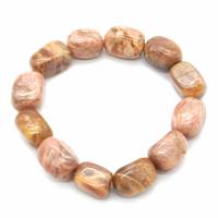 Bracelet pierres roulées en Pierre de lune Maxi