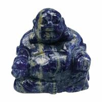 Bouddha Rieur assis 4 cm en Sodalite - Porte bonheur