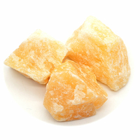 Calcite orange brute du Brésil de 30 à 40 mm - Lot de 3pcs
