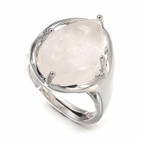 Bague en Cristal de roche cabochon design