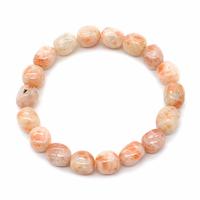 Bracelet pierres roulées pierre de soleil EXTRA