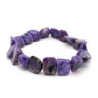 Bracelet pierres roulées Charoïte EXTRA