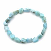 Bracelet pierres roulées Larimar