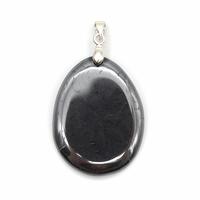 Pendentif hématite mini pierre plate - Choix B