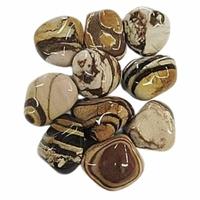 Jaspe brun (Cappuccino) pierre roulée de 25 a 35mm - Lot de 3pcs