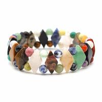 Bracelet losange multicolore en pierres naturelles