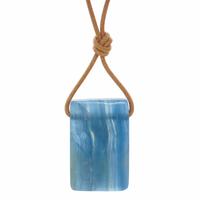 Pièce unique - Collier Aragonite bleue pierre et bien-être - Modèle 4