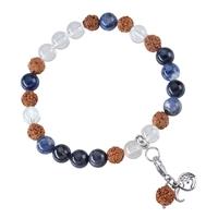 Bracelet Mala Cristal de rochet et Sodalite (Vérité)