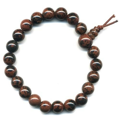 8046-mala-tibetain-21-graines-power-bracelet-obsidienne-acajou-boules-8-mm