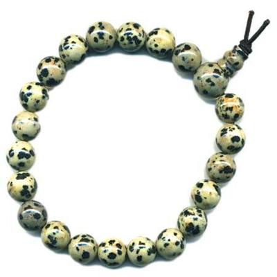 6166-mala-tibetain-21-graines-power-bracelet-jaspe-dalmatien-boule-8-mm