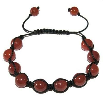 6073-bracelet-shamballa-cornaline-8-mm