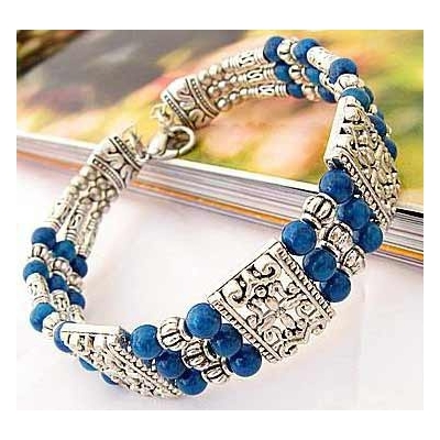 3435-bracelet-tibetain-en-agate-bleue-type-22