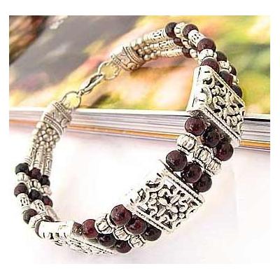 3431-bracelet-tibetain-en-agate-grenat-type-22