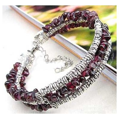 3398-bracelet-tibetain-en-grenat