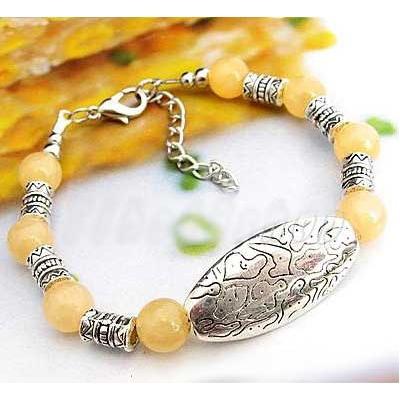 2725-bracelet-tibetain-en-calcite-jaune-type-10