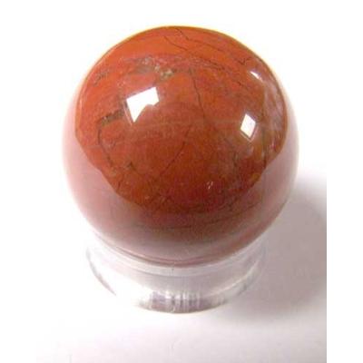 2672-boule-de-massage-en-jaspe-rouge-de-3-cm-avec-support-plexi