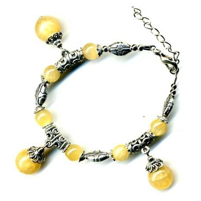 2427-bracelet-tibetain-en-calcite-jaune-type-2