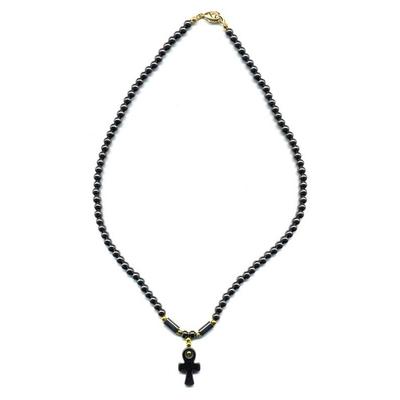1904-collier-hematite-croix-egyptienne