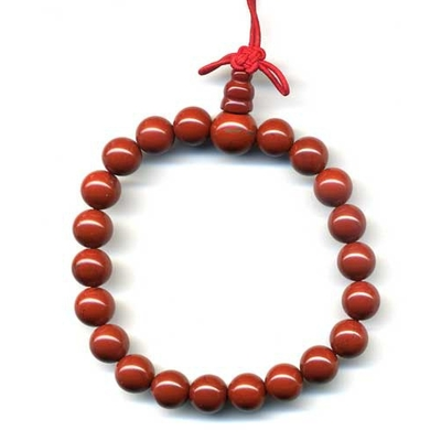 631-mala-tibetain-21-graines-power-bracelet-jaspe-rouge-boule-8-mm