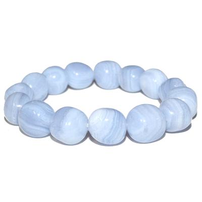 Bracelet-Calcédoine-pierre-roulée