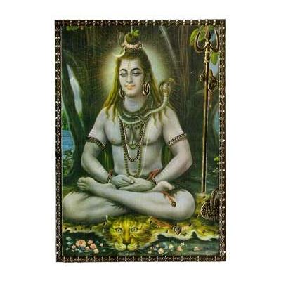 cadre carte postale de shiva esomondo hindouisme corps et ames. Black Bedroom Furniture Sets. Home Design Ideas
