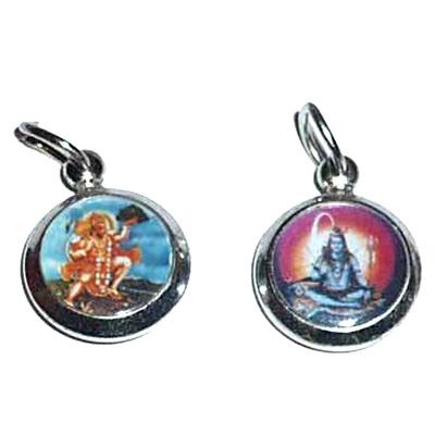 Shiva-avec-photo-couleur-rond-15mm-+-Hanuman-au-verso