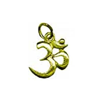 La-médaille-des-Divinités-'OM'-doré-en-relief-lisse
