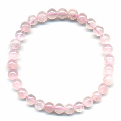 Bracelet-en-quartz-rose-boules-6mm