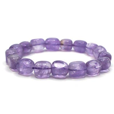 Bracelet-pierre-roulée-Améthyste-Extra