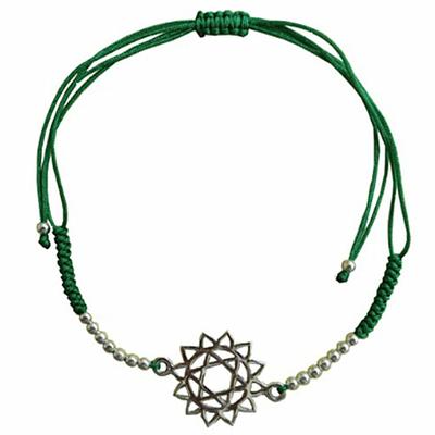 Bracelet-Chakra-Anahata-cordon-ajustable-en-coton