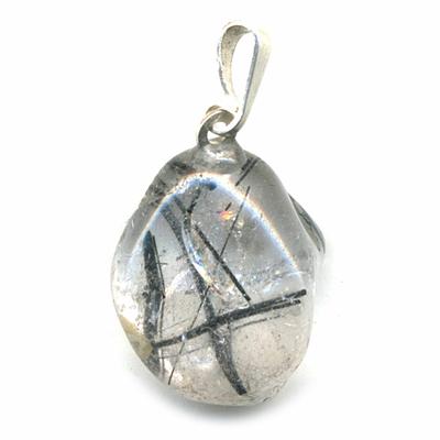 Pendentif-quartz-tourmaline-extra-bélière-argent-simple-1