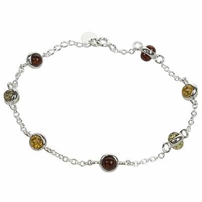 Bracelet-Boules-d'Ambre-Multicolores