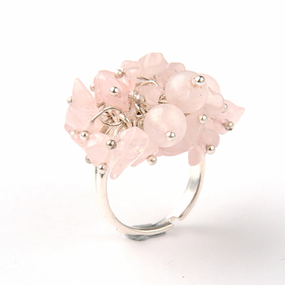 Bague-Quartz-Rose-mosaïque-Femme-2