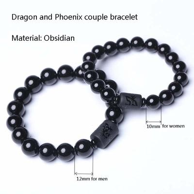 2017-Style-Ethnique-Couple-Bracelet-Obsidienne-Perles-Dragon-et-Phoenix-Charm-Bracelets-pour-Femmes-homme-De