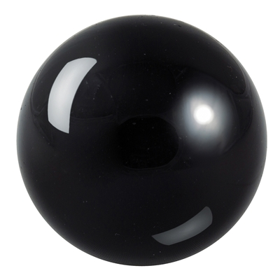 Boule en pierre d'obsidienne noire de 10cm