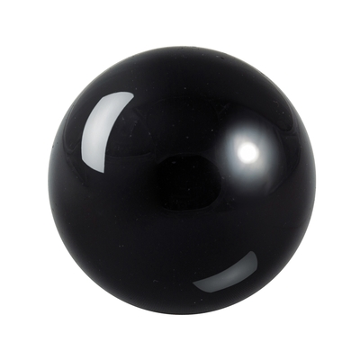 Boule en pierre d'obsidienne noire de 8cm