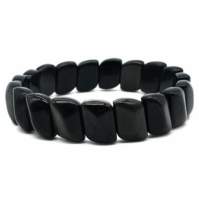 Bracelet-obsidienne-oeil-céleste-plaquette-facettée-1