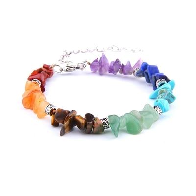 Bracelet baroque 7 chakras plaqué argent-1