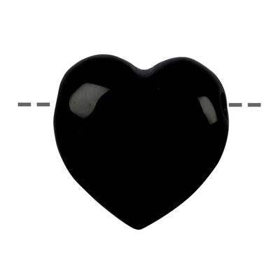 Coeur et bien-être Tourmaline noire 35mm