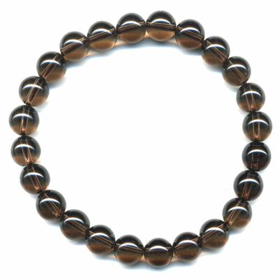 Bracelet-quartz-fumé-8mm