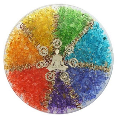 Sous-verre-Orgonite-7-Chakras-avec-symbole-Méditation-1